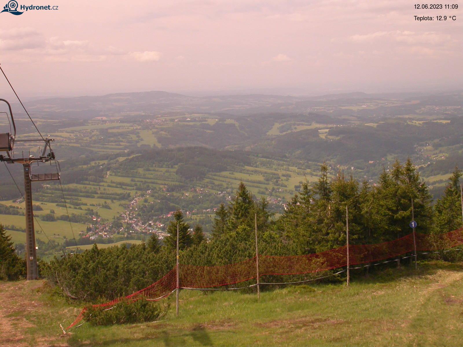 Aktualní snímek stanice Lysá hora - pohled na jih
