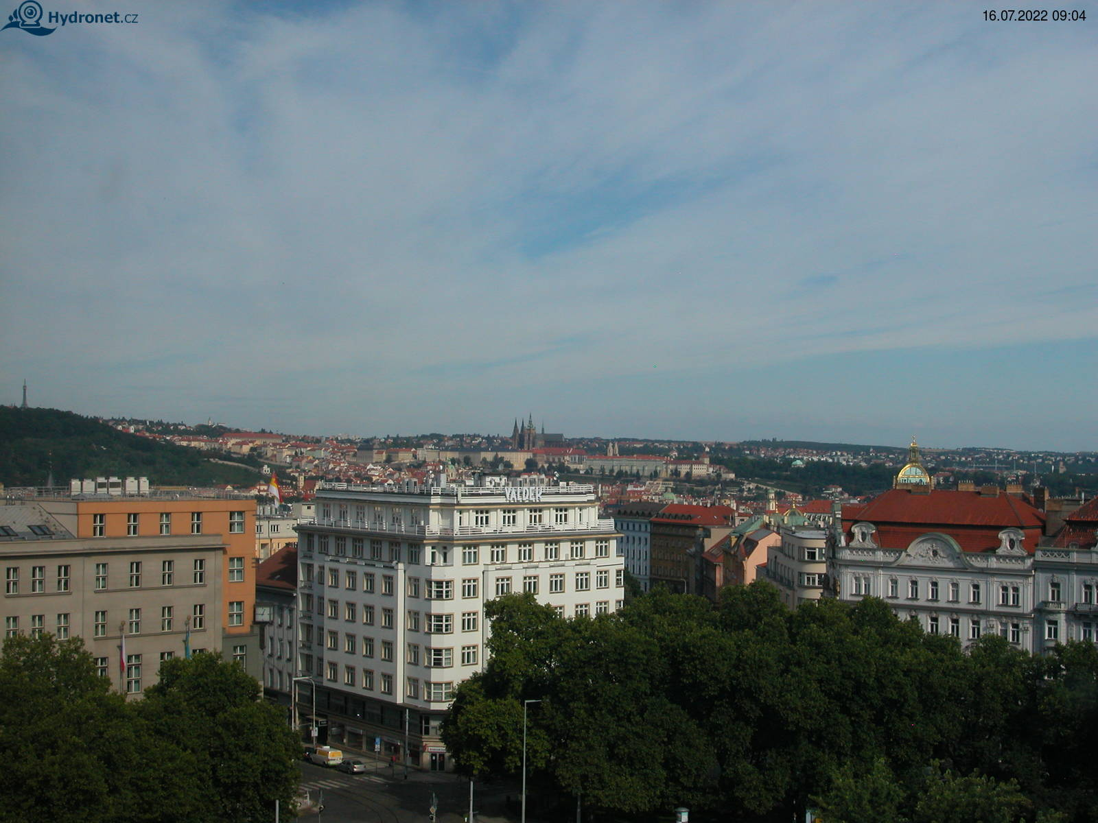 Aktualní snímek stanice Náměstí Míru - Pražský hrad